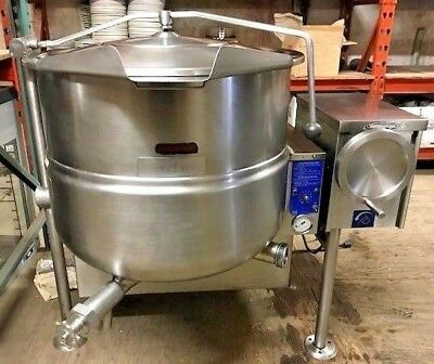 Cleveland Kgl-40T 40 Gallon Tilting Jacketed Steam Kettle Natural Gas Stainless
