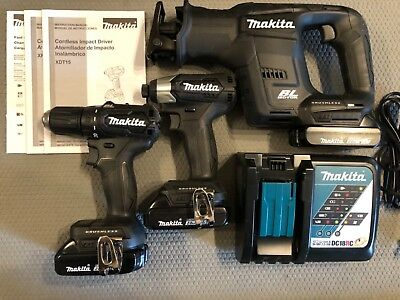Makita 18-Volt Brushless 3-piece Combo Kit 3 Batteries