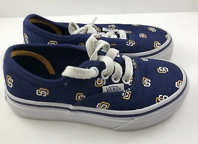 515cfc2eeb96 Vans Athletic Limited Edition Shoes MLB San Diego Padres - Youth Kids Size  10.5