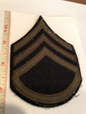 Staff Sergent US Army Chevron  WWII / Korea Original Sewn on Felt Rank Insignia
