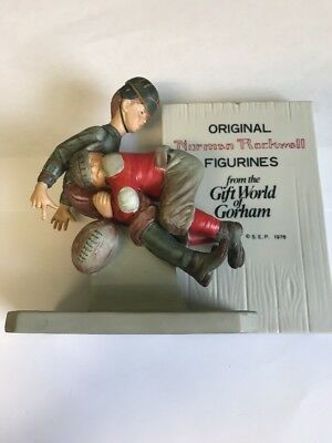 "Norman Rockwell Inspired ""Football Tackle"" Figurine From Gift World Of Gorham"