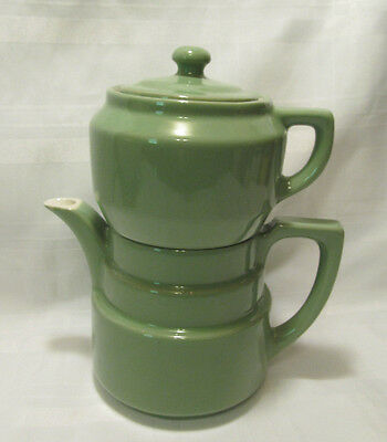 Genuine COORSITE POTTERY #491 Sage Green Coffee Pot Drip Pot w Lid REDUCED!