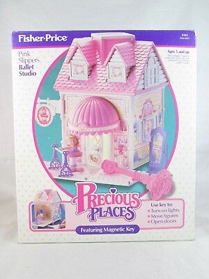 Vintage Fisher-Price Precious Places PINK SLIPPERS BALLET STUDIO - No 5153