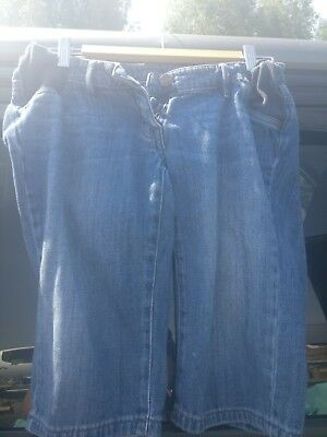 Next Maternity Distressed Denim Shorts Size 8