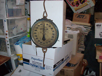 Vintage Chatillon Hanging Scale 200 Lbs Capacity Made In U.s.a. New York City