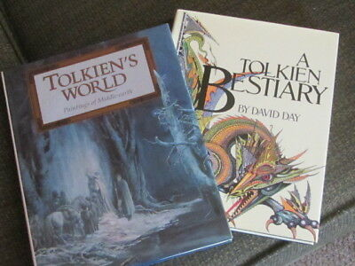 Lord of the Rings Hobbit Tolkien's World Maps Book, Tolkien Bestiary Book