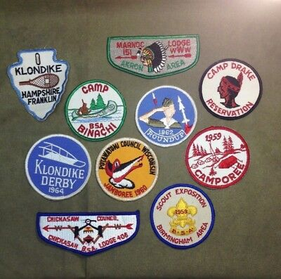 Vintage 1960s Boy Scouts BSA Patch Lot 3 1962 Roundup Missile Marnoc Binachi