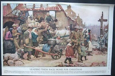1918 Frank E. Schoonover Picture of GREAT WAR painted for Ladies Home Journal #2