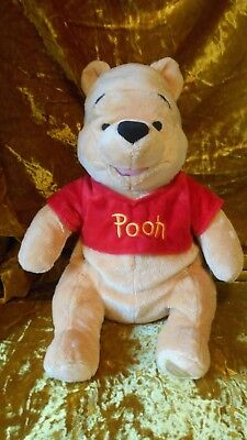 """Winnie the pooh 16"""" plush from Disney store new with tag Cute red Pooh shirt !"""