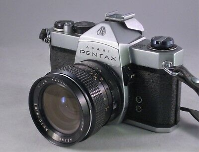 VINTAGE ASAHI PENTAX SP1000 35mm SLR WITH TWO LENSES AND TELECONVERTER.