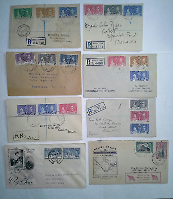 BRITISH COLONIES 1930s-50s Coronation and Other FDCs, some Registered