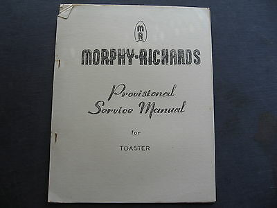 Murphy Richards Toaster SERVICE MANUAL & PRICE LIST
