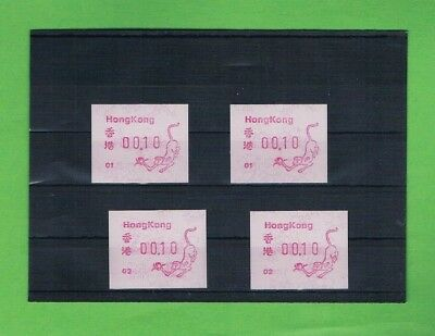 Hongkong ATM AFFE ATM 01 + 02 postfrisch Year of Monkey mint ** FRAMA Labels '92