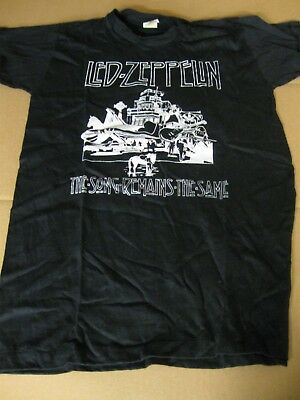 LED ZEPPELIN song remains the same AUTHENTIC ORIGINAL vintage 70s T-SHIRT RARE