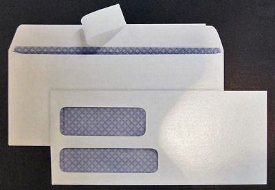 #9 Double Window Envelope w/ privacy tint Peel & Stick 250/500 counts