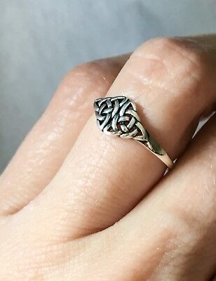 WHOLESALE LOT! Silver Plated Celtic Knot Rings! 6 of ea. size-included are 6,7,8