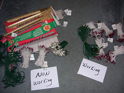 Large Lot Vtg Italian Italy Christmas Lights Bulbs Working & Nonworking