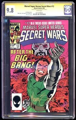 Secret Wars #12 SS CGC 9.8 Mike Zeck Signature Series and Sketch
