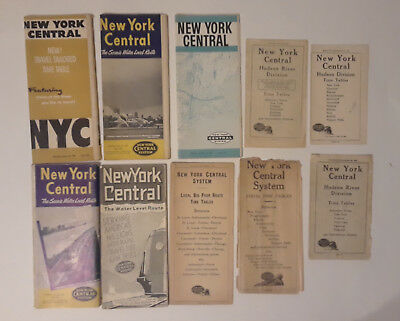 Lot of New York Central Railroad Timetables
