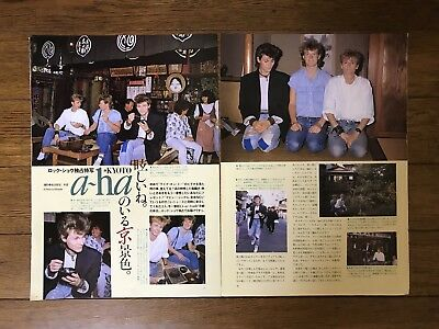 2 Vintage A-ha Morten Harket Clippings Japanese Magazine