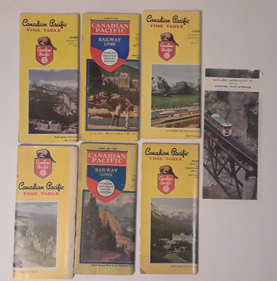 Lot of Canadian Pacific & Pacific Great Eastern Railway Timetables