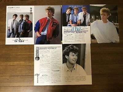 6 Vintage A-ha Morten Harket Clippings Japanese Magazine
