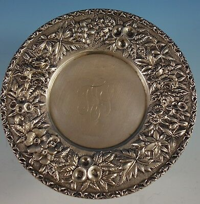 Repousse by Kirk Sterling Silver Dessert Plate w/ Applied Border 11oz Mark #2709
