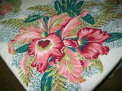 California Hand Prints Tablecloth Flowers Orchids?