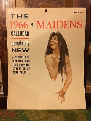 Vtg 1966 Calendar Maidens for Adults Only Humor  Illustrated by L. Peterson