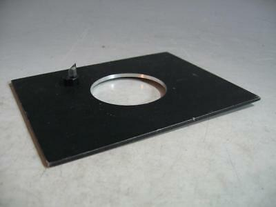 "Beseler 57MX Lens Board 60MM Opening Unthreaded 5 X 6 3/8"" Pilot Light"