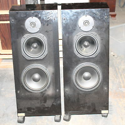 Vintage JS Engineering Infinity Slope Model 1 Wheeled Floor Speakers
