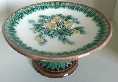 Pretty/Old Majolica Etruscan Morning Glory Cakestand, RARE & Very Nice, #2