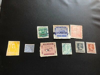 india feudatory state stamps collection m/u  hv f416