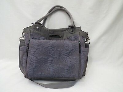 Petunia Pickle Bottom City Carryall Diaper Bag in Champs Elysees Grey W  Pad 9fd0a547b8b8a