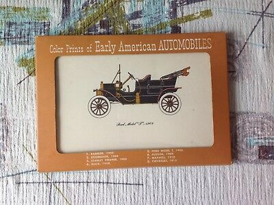 Lot of 8 VINTAGE COLOR  9 X 6 PRINTS OF EARLY AMERICA Automobiles 1950