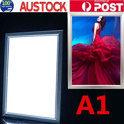 A1 LED Light Box Advertising Aluminum Snap Frame Poster Display Backlit Board