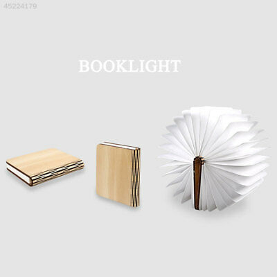 Foldable Wooden LED Book Lamp USB Colorful Night Light Creative Decor