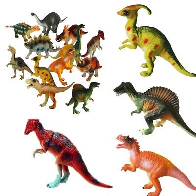 New Large Plastic Rubber Foam Stuffed Dinosaur Play Toy Animals Action Figures