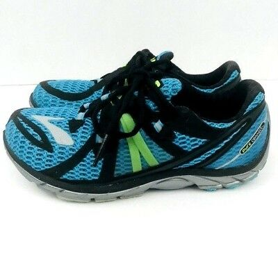 4fa88dec050 BROOKS Pure Connect 2 Womens Aqua Blue Black Training Running Sneakers Size  6.5
