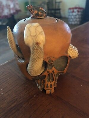 1700's Hand Carved Ink Well