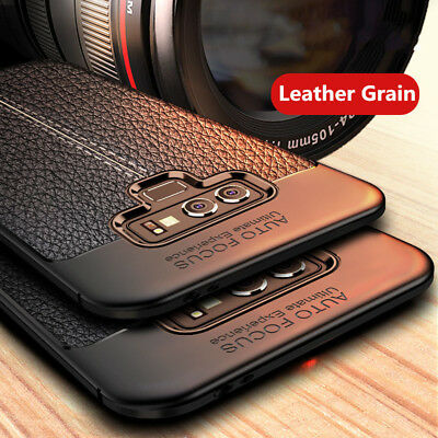 For Samsung Galaxy Note 9 8 3 4 5 ShockProof Rubber Slim TPU Leather Case Cover