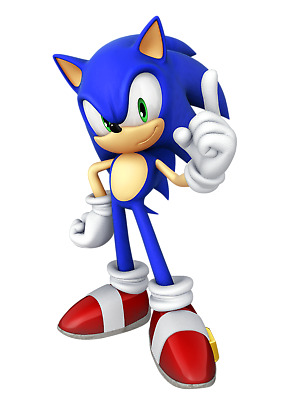 Sonic the Hedgehog Iron On Transfer for DARK or LIGHT Fabric