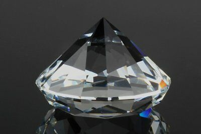 US 60mm Crystal Clear Paperweight Cut Glass Giant Diamond Jewel Decor Gift