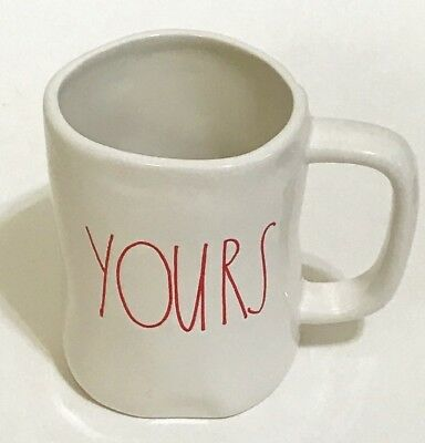 1335274da74 NEW RAE DUNN - YOURS - Coffee Mug Lg Red Print Artisan Magenta Collection