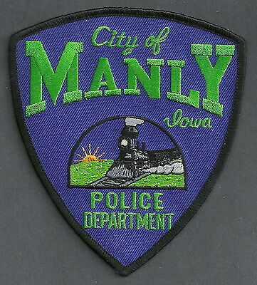 Manly Iowa Police Patch Locomotive