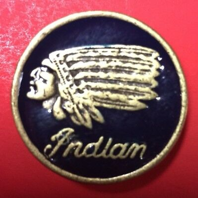 """Indian Motorcycle Screw-Back Concho Gold On Blue ~ 1 3/16"""""""