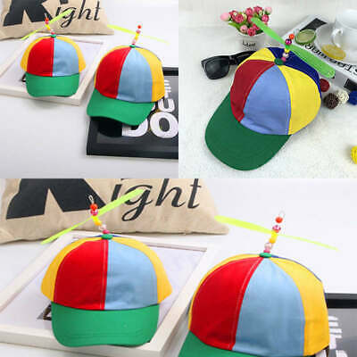 c379f39c106 Adult Kid Adjustable Propeller Ball Baseball Beanie Cap Hat Clown Costume  Copter
