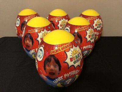 NEW!! Ryan's World Yellow Giant Mystery Surprise Egg -IN HAND