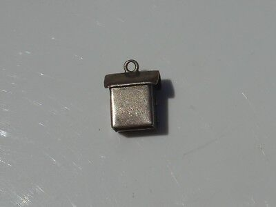 Vtg Sterling Silver Charm Pendant Outhouse Sam & Lew Door Opens