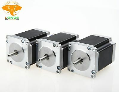 NEW! Stepper Motor 3PCS NEMA23 270 oz-in 3.0A 23HS8430 57BYGH CNC Mill Cut LONGS